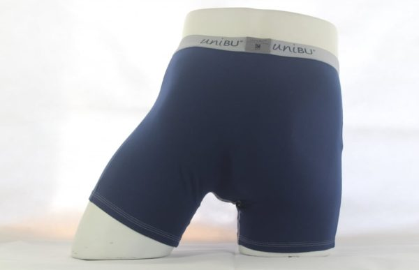 Mens Boxer Shorts Navy Blue - Back