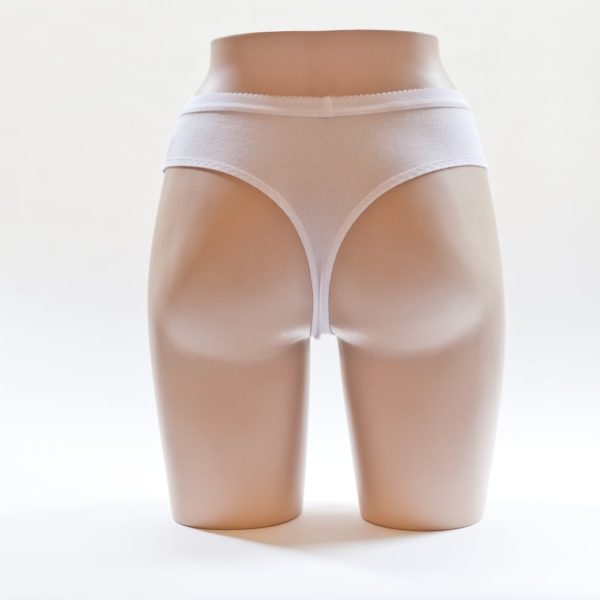 Women's Thong White Back