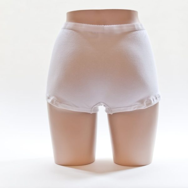 Women's Boxer Shorts White Back