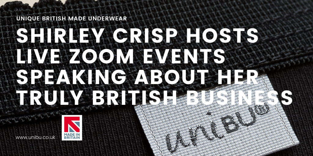 shirley crisp host's live zoom events speaking about her truly british business